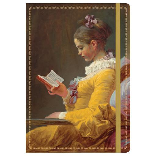 Young Girl Reading Journal
