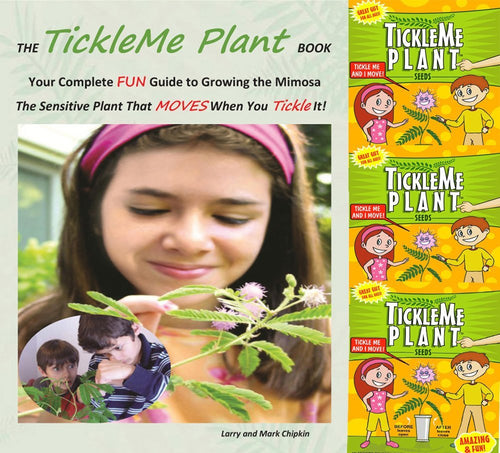 TickleMe Plant Book with 3 Packets of TickleMe Plant Seeds! - TickleMe Plant Company, Inc