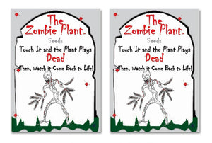"Zombie Plant Seed Packets (2) Grow your own Zombie Plant at home and watch it ""Play DEAD"" when Touched!"