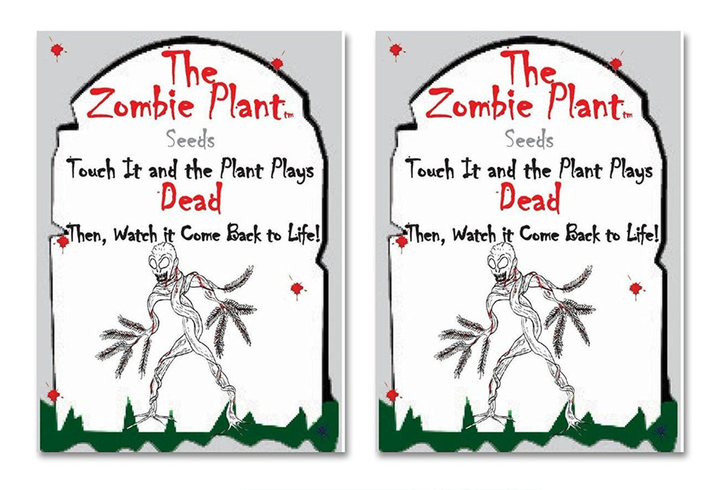 Zombie Plant Seed Packets (2) Grow your own Zombie Plant at home and watch it