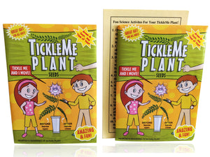 "TickleMe Plant Seed Packets (2) - Fun Party Gift. Comes with Ten Fun Ideas To Do With Your TickleMe Plant  "" Great Birthday Party Giveaway!"