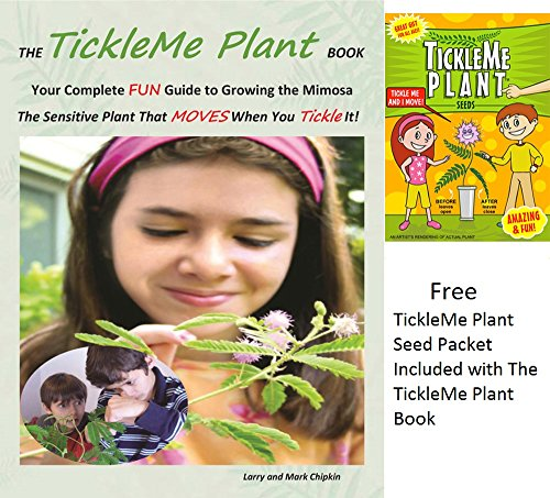 TickleMe Plant Book with 1 seed pack.  Learn to easily grow this very sensitive plant (Mimosa pudica) from seeds,