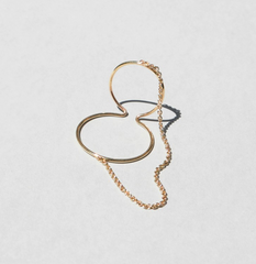 Saskia Diez - Wire Ear cuff Double No 2 Chained - Gold