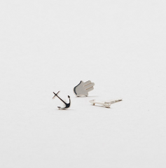 Saskia Diez - Arrow Ear Stud - Silver