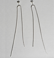 Saskia Diez - Fringe Earrings Open - Silver