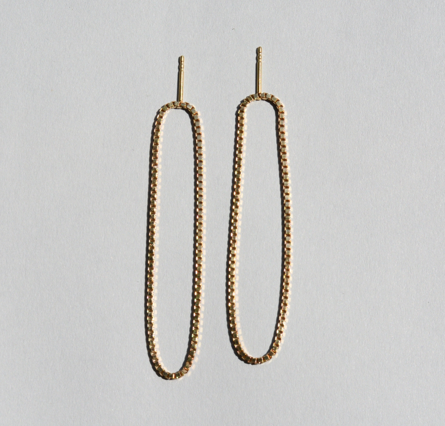 Saskia Diez - Loop Earrings Long - Gold