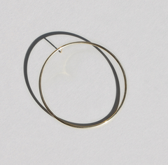 Saskia Diez - Wire Bold Hoop - Yellow Gold (585)