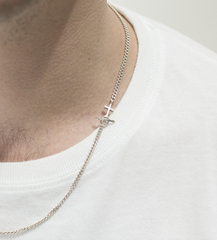 Saskia Diez - Anchor Necklace Men - Silver