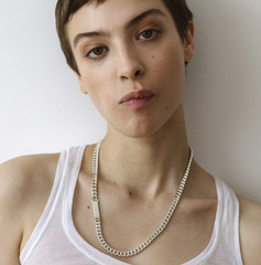 Saskia Diez - Grand Identity Necklace - Silver