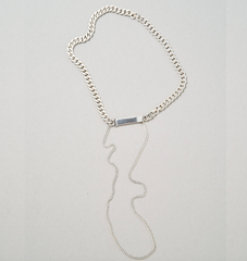 Saskia Diez - Grand Identity Necklace Choker No2 - Silver