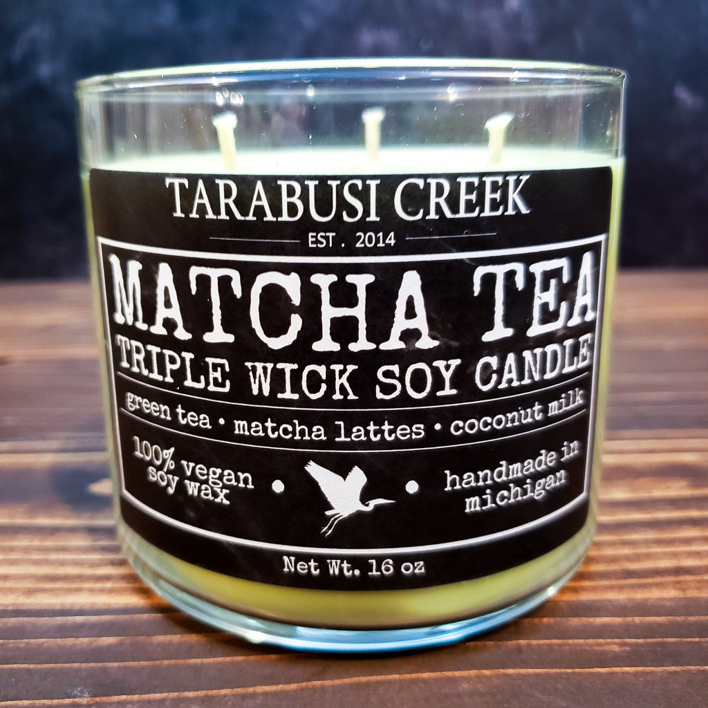 Matcha Tea 16 oz Tumbler Candle