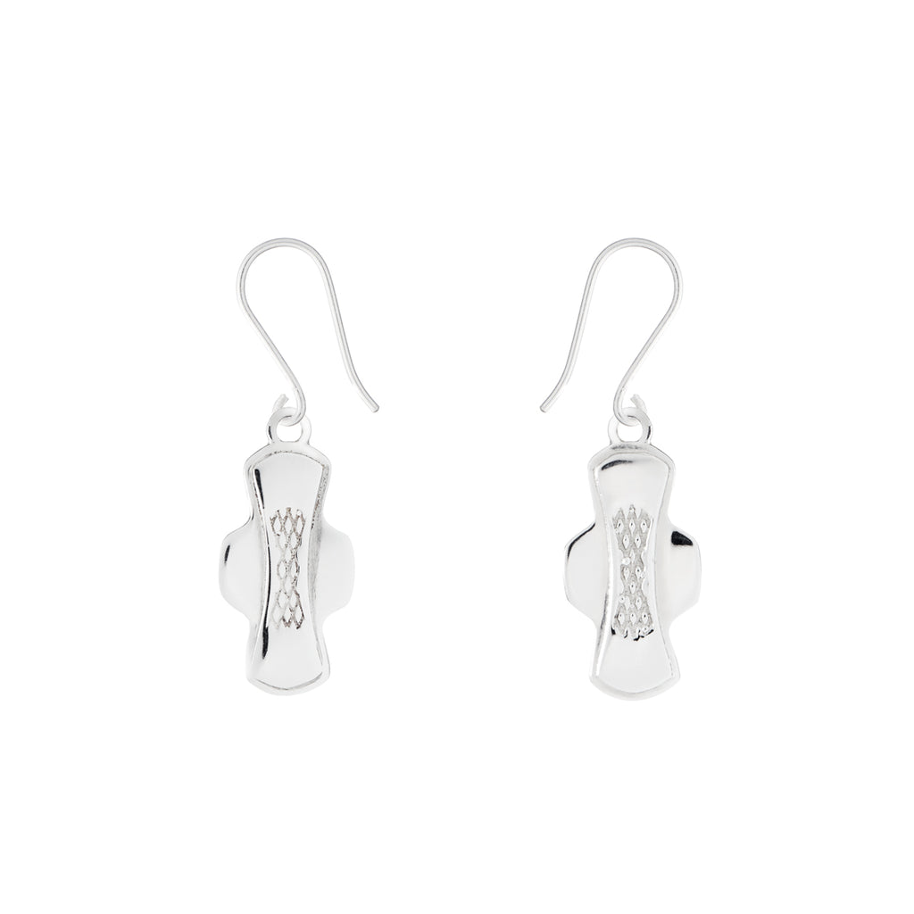 Statement by Lann silver pad earrings