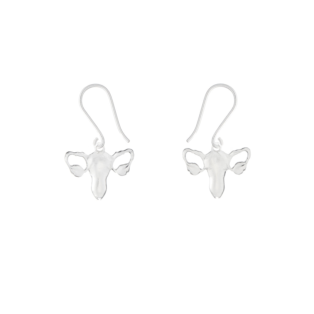 Silver Uterus Earrings