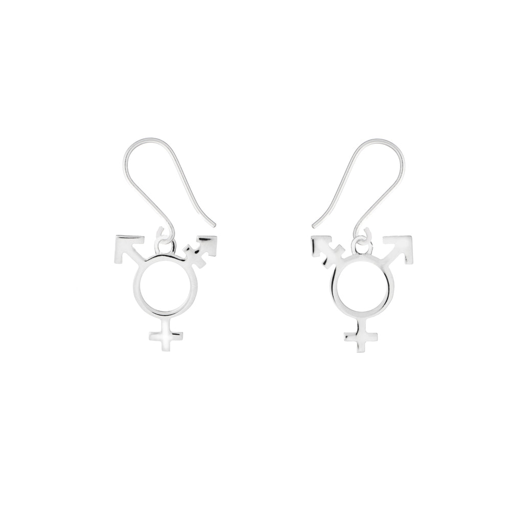 Trans symbol earrings