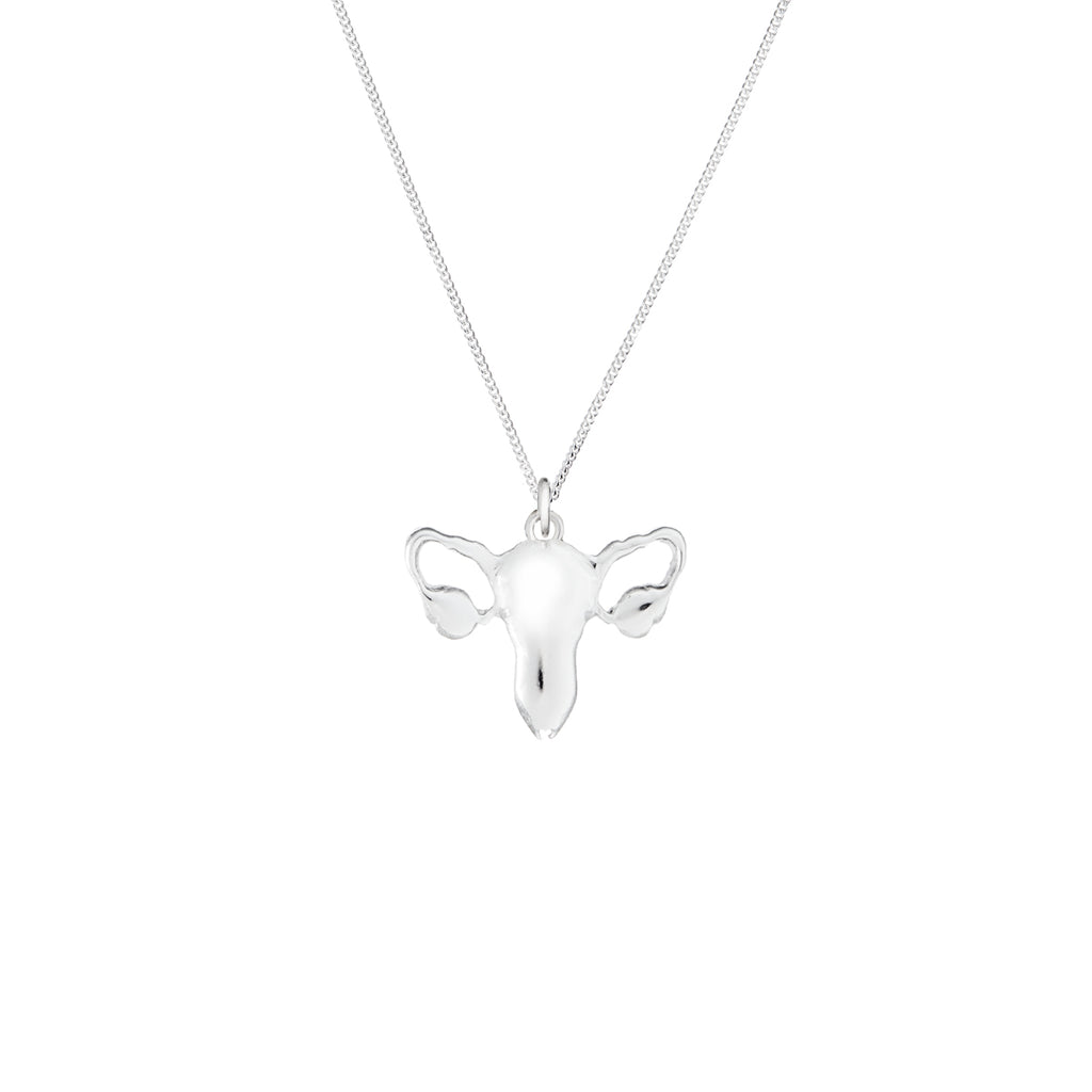 Silver Uterus Necklace