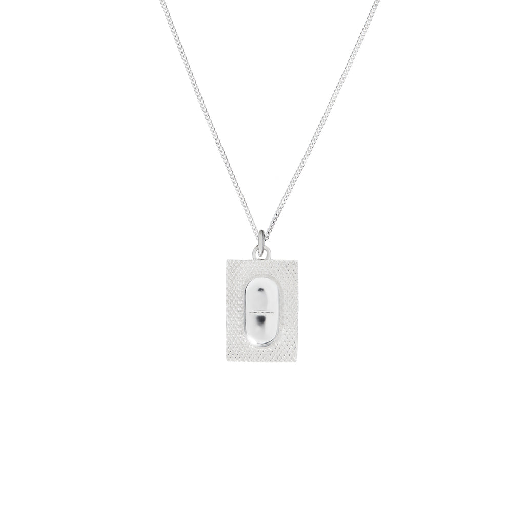 Statement by Lann silver pill necklace