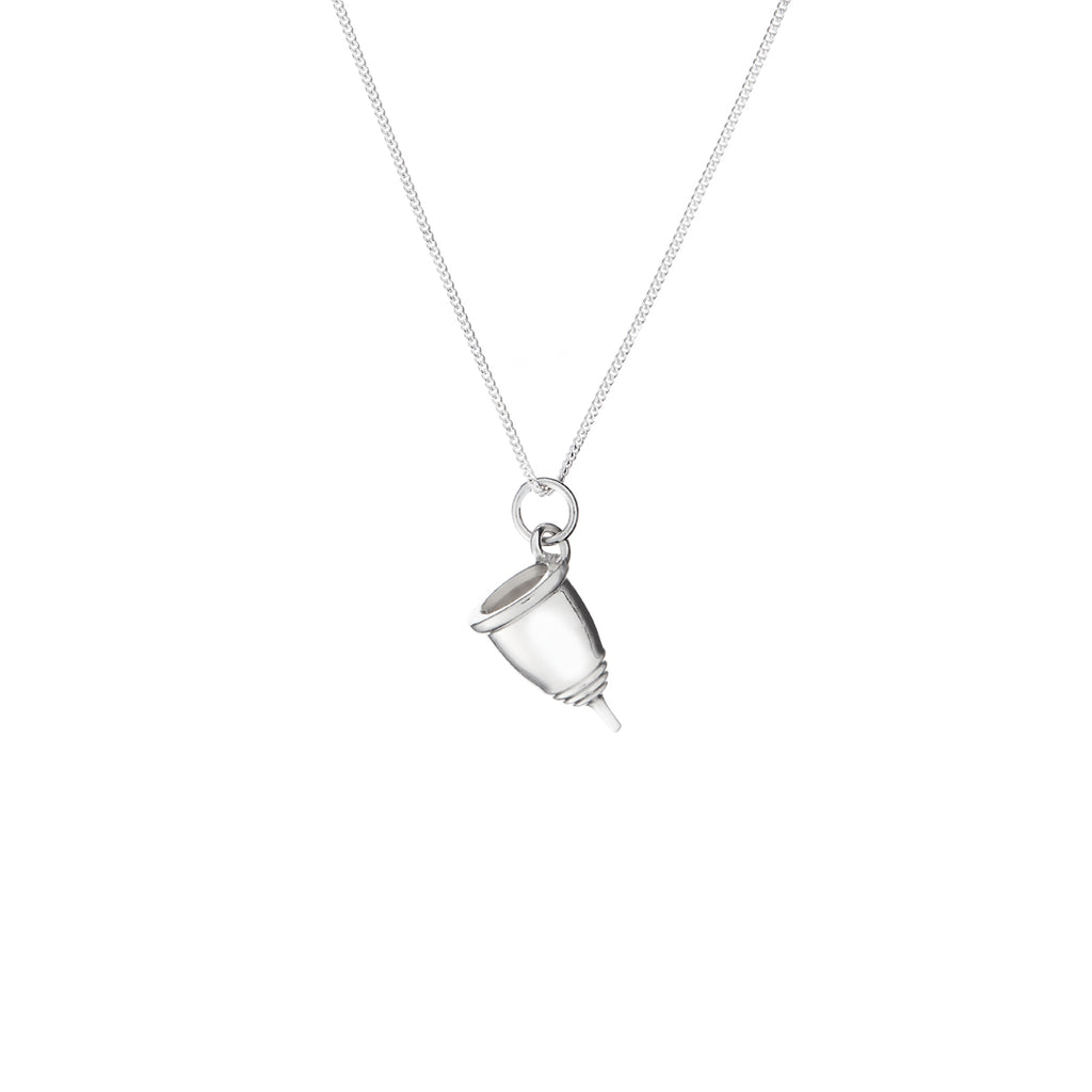 Silver Menstrual Cup Necklace
