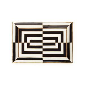 OP ART RECTANGLE TRAY
