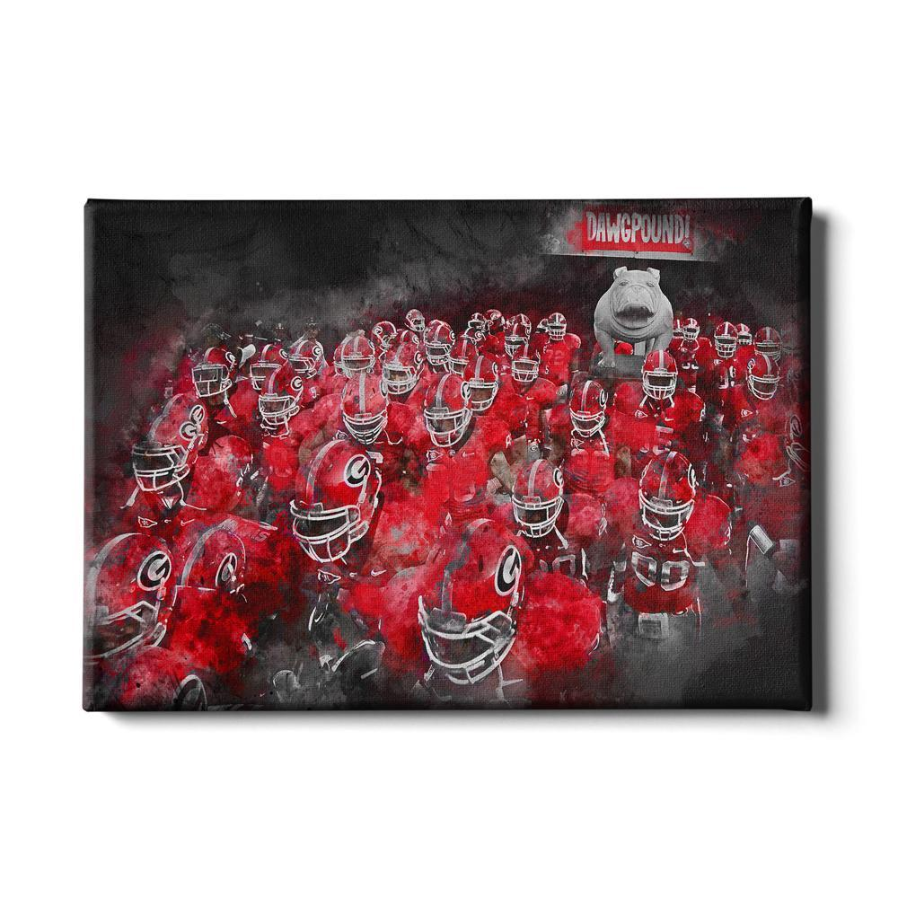 Georgia Bulldogs - Dawg Pound - College Wall Art #Canvas