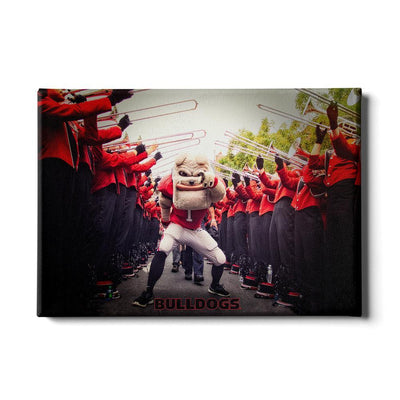 Georgia Bulldogs - Dawg Walk - College Wall Art #Canvas