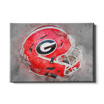 Georgia Bulldogs - Georgia Helmet Fine Art - College Wall Art #Canvas