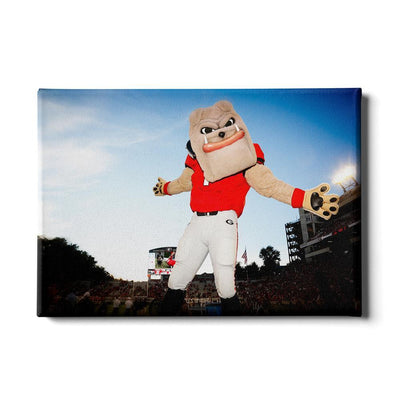 Georgia Bulldogs - Hairy the Dawg - College Wall Art #Canvas