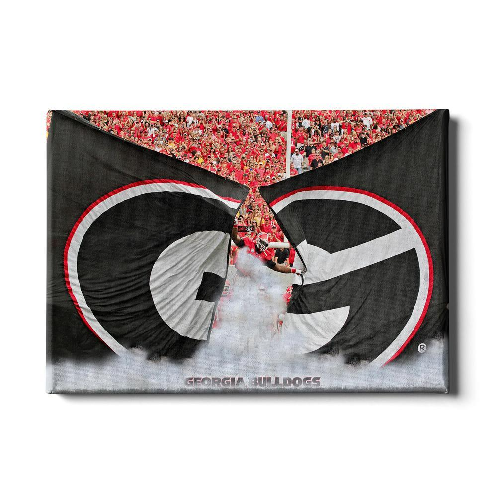 Georgia Bulldogs - Grand G Entrance - College Wall Art #Canvas