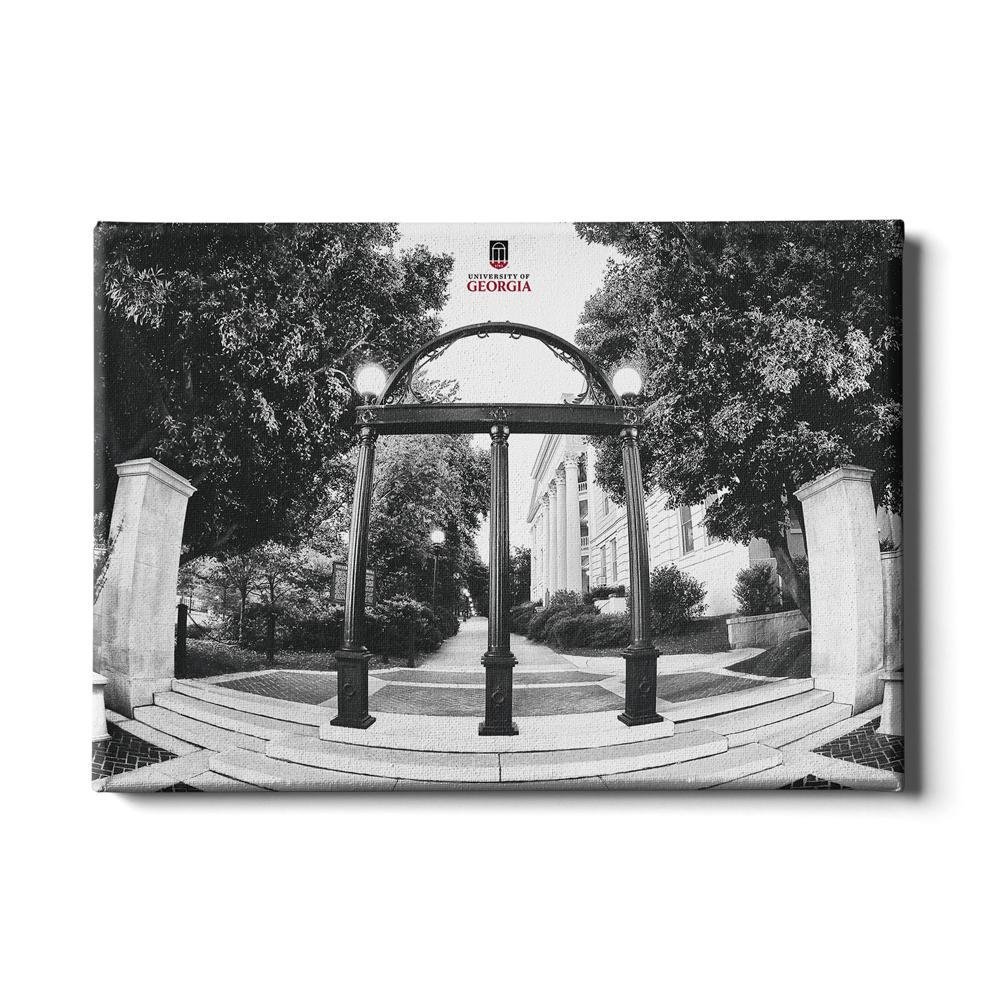 Georgia Bulldogs - Arch B&W - College Wall Art #Canvas