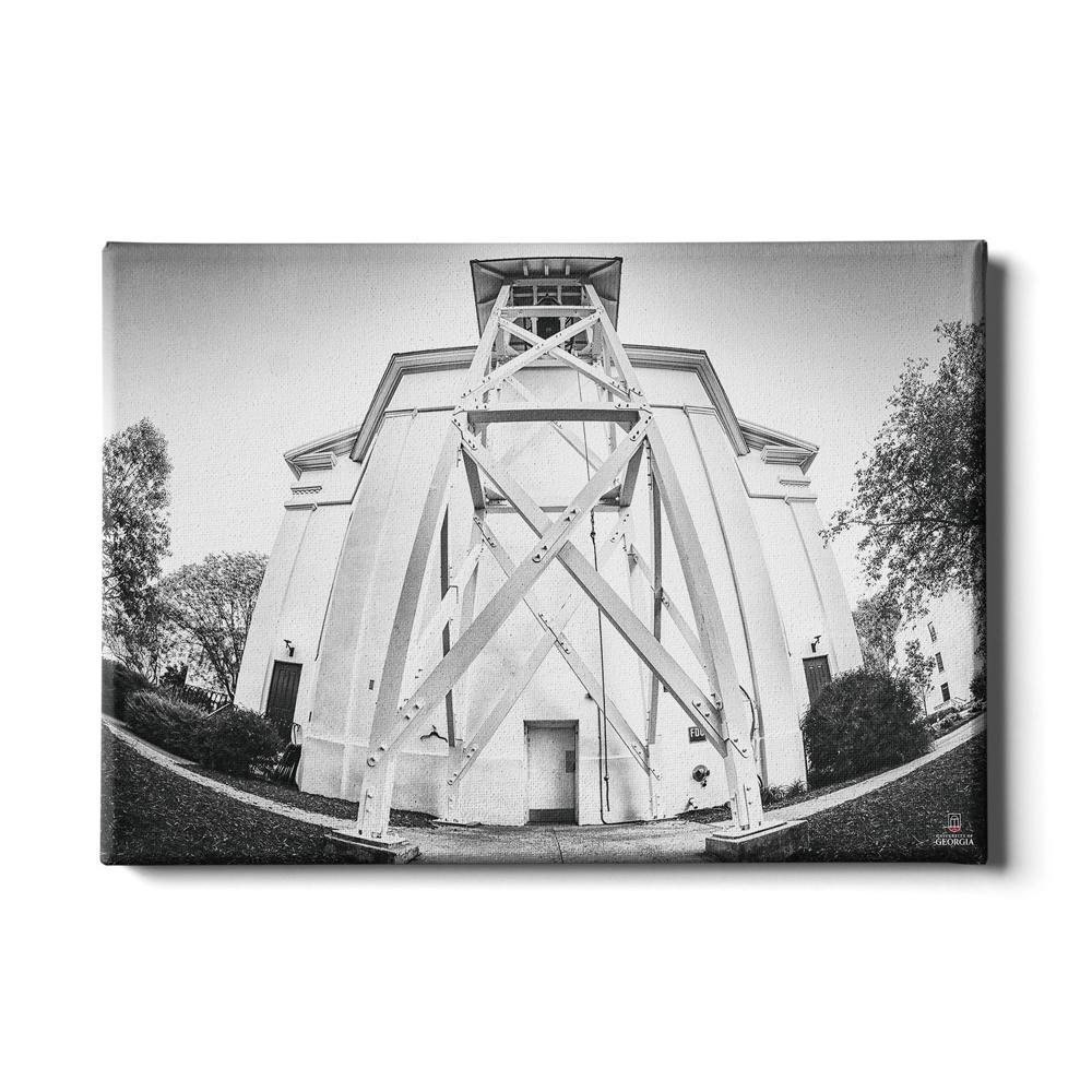 Georgia Bulldogs - Chapel Bell B&W - College Wall Art #Canvas