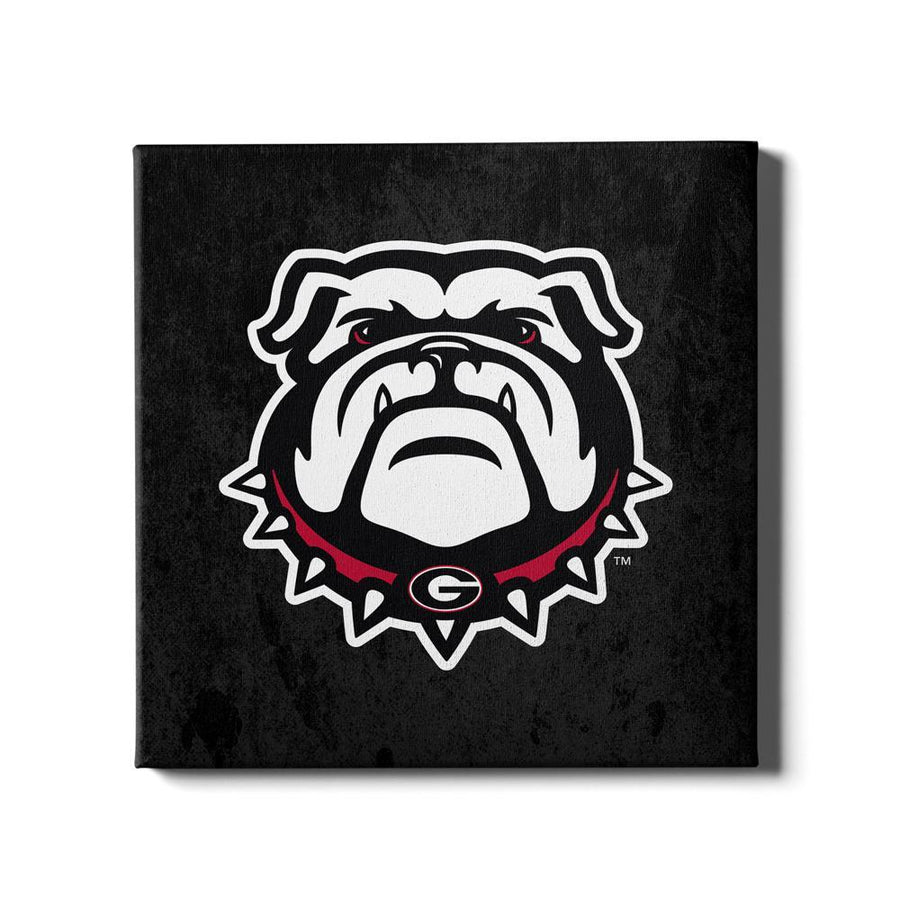 Georgia Bulldogs - Bulldog on Black - College Wall Art #Canvas