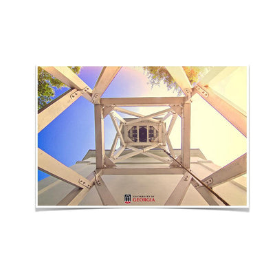 Georgia Bulldogs - A Look into the Chapel Bell - College Wall Art #Poster