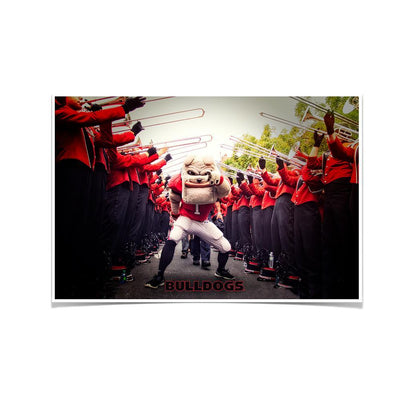Georgia Bulldogs - Dawg Walk - College Wall Art #Poster