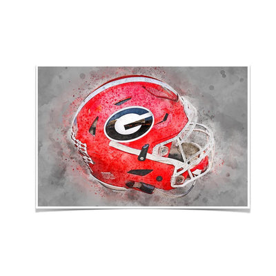 Georgia Bulldogs - Georgia Helmet Fine Art - College Wall Art #Poster