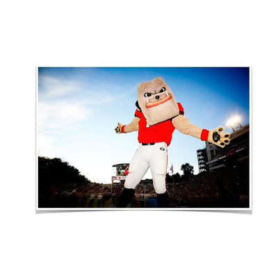Georgia Bulldogs - Hairy the Dawg - College Wall Art #Poster