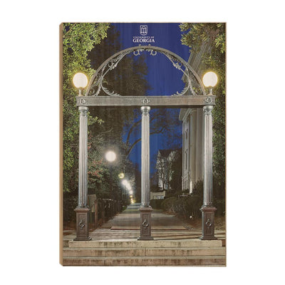Georgia Bulldogs - Through the Arch - College Wall Art #Wood