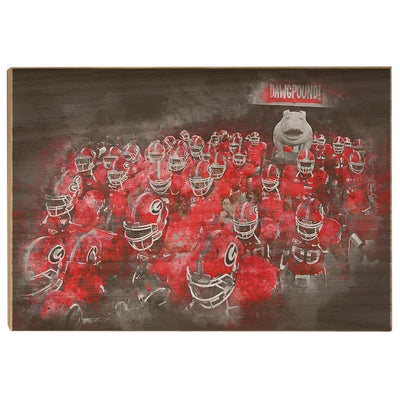 Georgia Bulldogs - Dawg Pound - College Wall Art #Wood