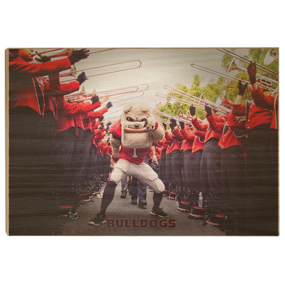 Georgia Bulldogs - Dawg Walk - College Wall Art #Wood