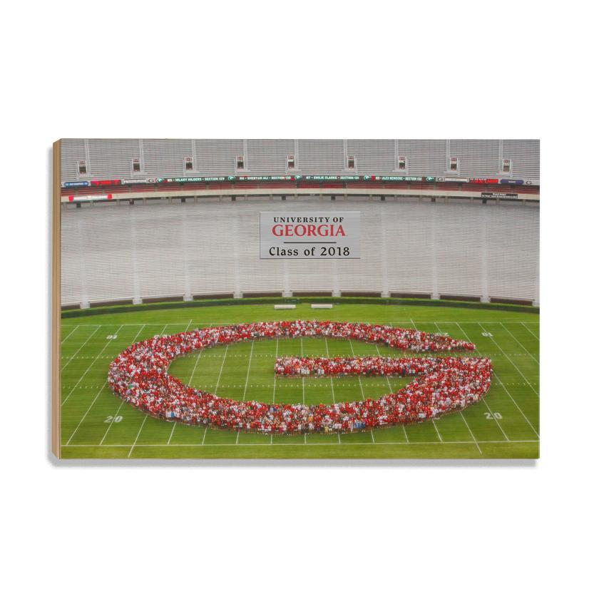 Georgia Bulldogs - UGA Class of 2018 - College Wall Art #Canvas