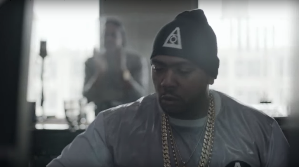 Timbaland wears D'MXCI Beanie in Samsung Commercial