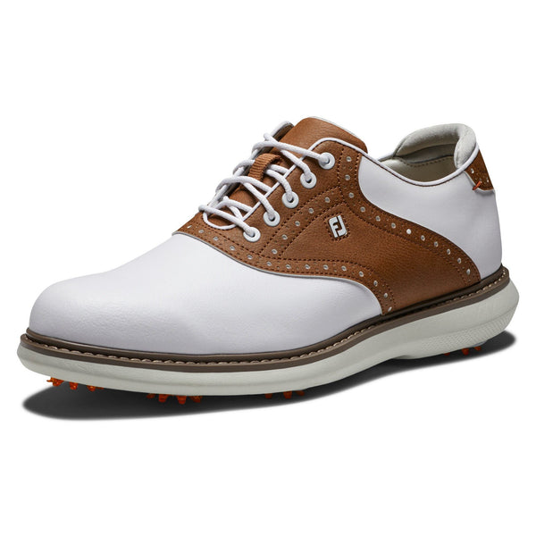 Footjoy Chaussure Homme Tradition Blanc Marron Chaussures homme FootJoy
