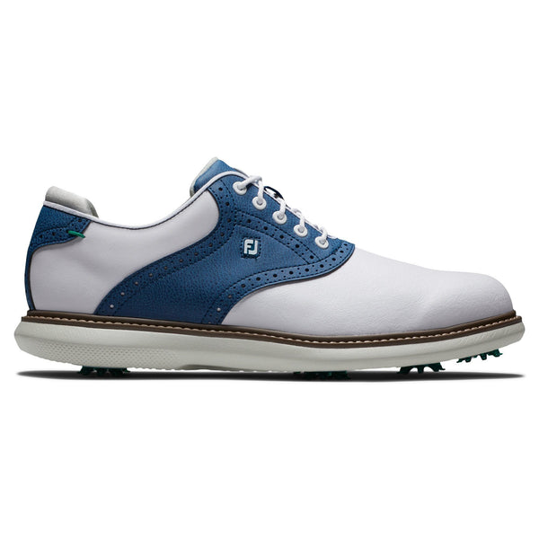 Footjoy Chaussure Homme Tradition Blanche Bleu Chaussures homme FootJoy