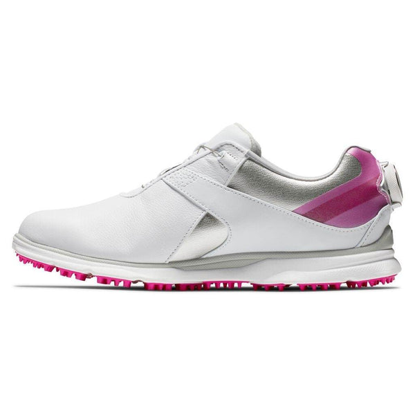 Footjoy Chaussure PRO|SL BOA 2020 Femme Blanche Rose Chaussures femme FootJoy