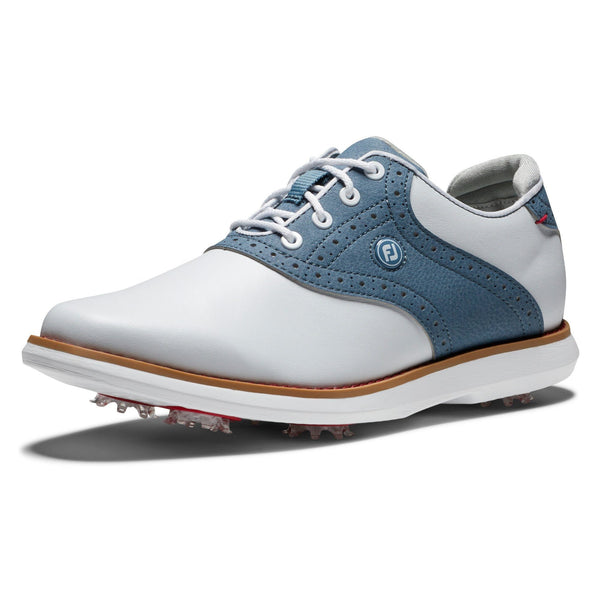 Footjoy Chaussure Tradition Lady Blanche bleu Chaussures femme FootJoy