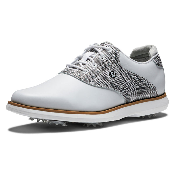 Footjoy Chaussure Tradition Lady Blanche Grise Chaussures femme FootJoy