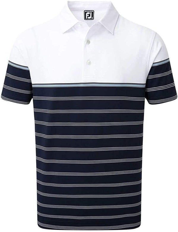 FootJoy polo Stretch Lisle Colour Block Stripe Polos FootJoy