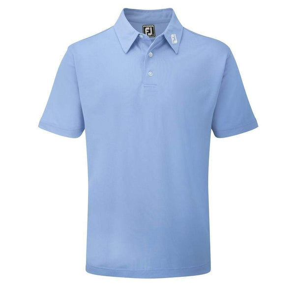 footjoy polo Stretch Pique solid Bleu clair Polos FootJoy