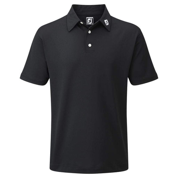 footjoy polo Stretch Pique solid Noir Polos FootJoy
