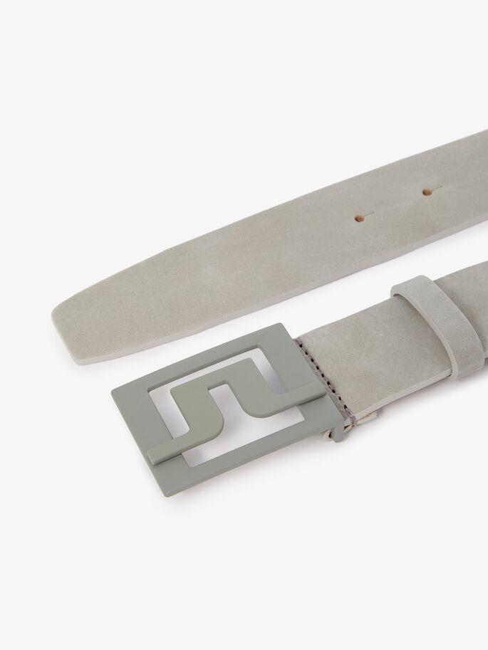 LINDEBERG CEINTURE SLATER BRUSHED LEATHER STONE GREY ceintures Lindberg