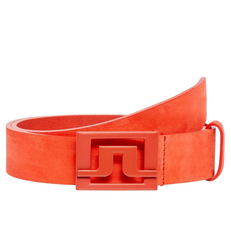 LINDEBERG CEINTURE SLATER BRUSHED LEATHER TOMATO RED ceintures Lindberg
