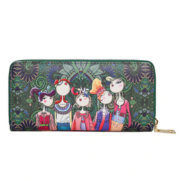 Wednesday Girls Faux Leather Wallet - Lovely Mary Bags Store